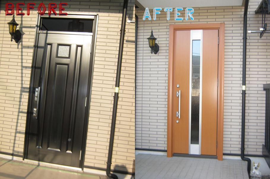 印象が変わる玄関ドアリフォームです
