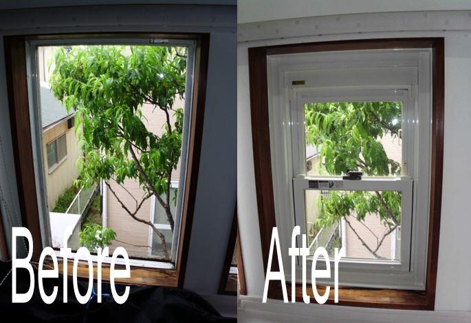 窓交換Fixからあげさげ窓へ交換しました